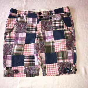 Cute Pink and Purple Patchwork Bermuda Shorts